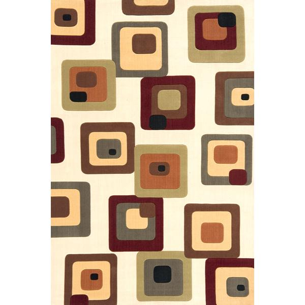 Momeni Eclectic X 5 x 8 Area Rug : Ivory - Item Number: 951116435