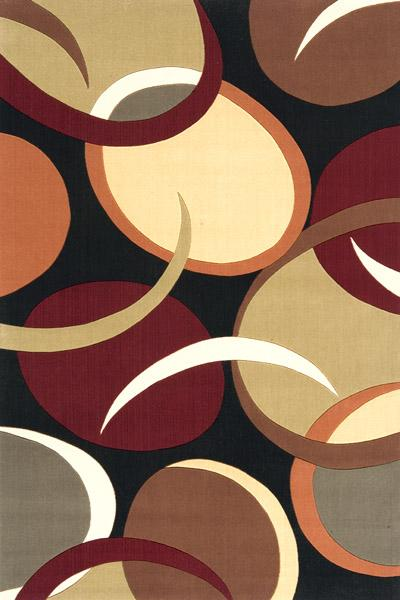 Momeni Eclectic XIII 8 x 11 Area Rug : Black - Item Number: 951116144
