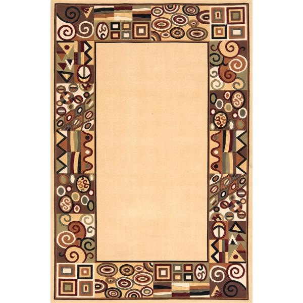 Momeni Eclectic XIV 8 x 11 Area Rug : Ivory - Item Number: 951117045