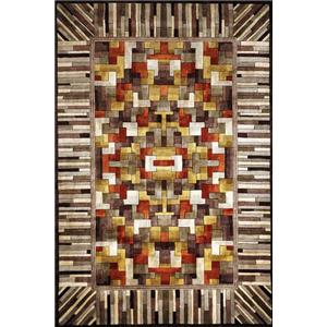 7.6 x 9.6 Area Rug : White-Brown