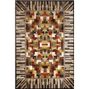 Momeni Nickelodeon 5.3 x 8 Area Rug : White-Brown - Item Number: 951001230