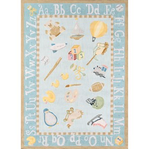 Classic Toys 2' X 3' Rug - Baby Blue