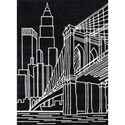 Momeni Lil Mo Hipster Brooklyn Bridge 5' X 7' Rug - Black - Item Number: 22506