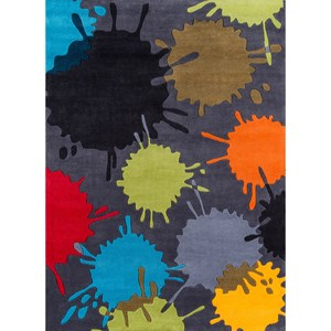 Paint Ball 8' X 10' Rug - Grey