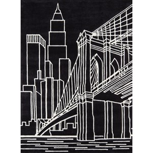 Brooklyn Bridge 8' X 10' Rug - Black