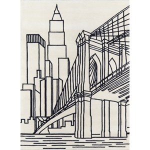 Brooklyn Bridge 8' X 10' Rug - Ivory