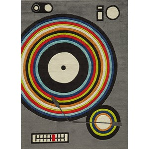 Turntable 4' X 6' Rug - Grey
