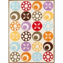 Momeni Lil Mo Whimsey Candy Dots 2' X 3' Rug - Ivory - Item Number: 17227