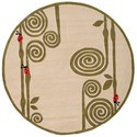 Momeni Lil Mo Whimsey Curly Fern 5' X 5' Round Rug - Ivory - Item Number: 17644