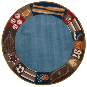 All Star 5' X 5' Round Rug - Denim
