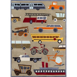 Transportation 8' X 10' Rug - Concrete