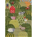 Momeni Lil Mo Whimsey Farm Land 8' X 10' Rug - Grass - Item Number: 20246