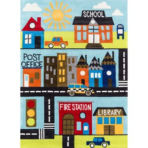 Town Scene 8' X 10' Rug - Town