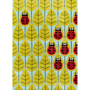 Ladybug Family 8' X 10' Rug - Lady Bug Red