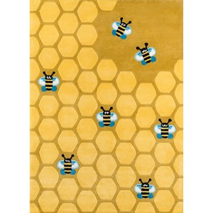 Honeycomb Gold 8' X 10' Rug - Honeycomb Gold