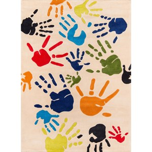 Finger Paint 8' X 10' Rug - Ivory