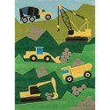 Momeni Lil Mo Whimsey Construction 3' X 5' Rug - Green - Item Number: 28559