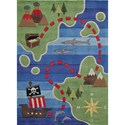 Momeni Lil Mo Whimsey Pirate Map 4' x 6' Rug - Item Number: 28563