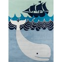 Momeni Lil Mo Whimsey Whale's Tail 2' X 3' Rug - Multi Blue - Item Number: 32289