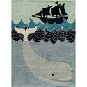 Momeni Lil Mo Whimsey Whale 4' x 6' Rug - Item Number: 32301