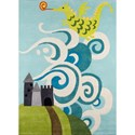 Momeni Lil Mo Whimsey Fairytale Dragon 8' X 10' Rug - Sky - Item Number: 32321