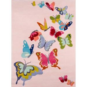 Butterfly Flutter 8' X 10' Rug - Pink