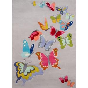Butterfly Flutter 8' X 10' Rug - Grey