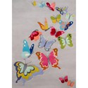 Momeni Lil Mo Whimsey Butterfly Flutter 8' X 10' Rug - Grey - Item Number: 35709