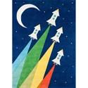 Momeni Lil Mo Whimsey Rocket 8' X 10' Rug - Navy - Item Number: 36841