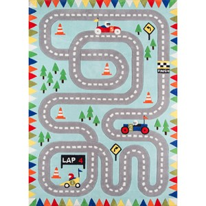 Racetrack 8' X 10' Rug - Light Blue