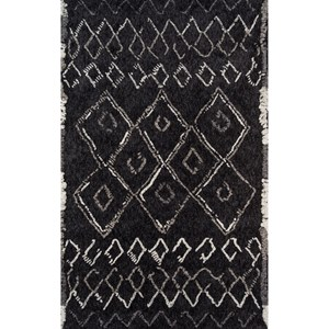 "Black Margaux 7'6"" x 9'6"" Rug"