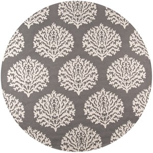 Grey Veranda 9' x 9' Round Rug