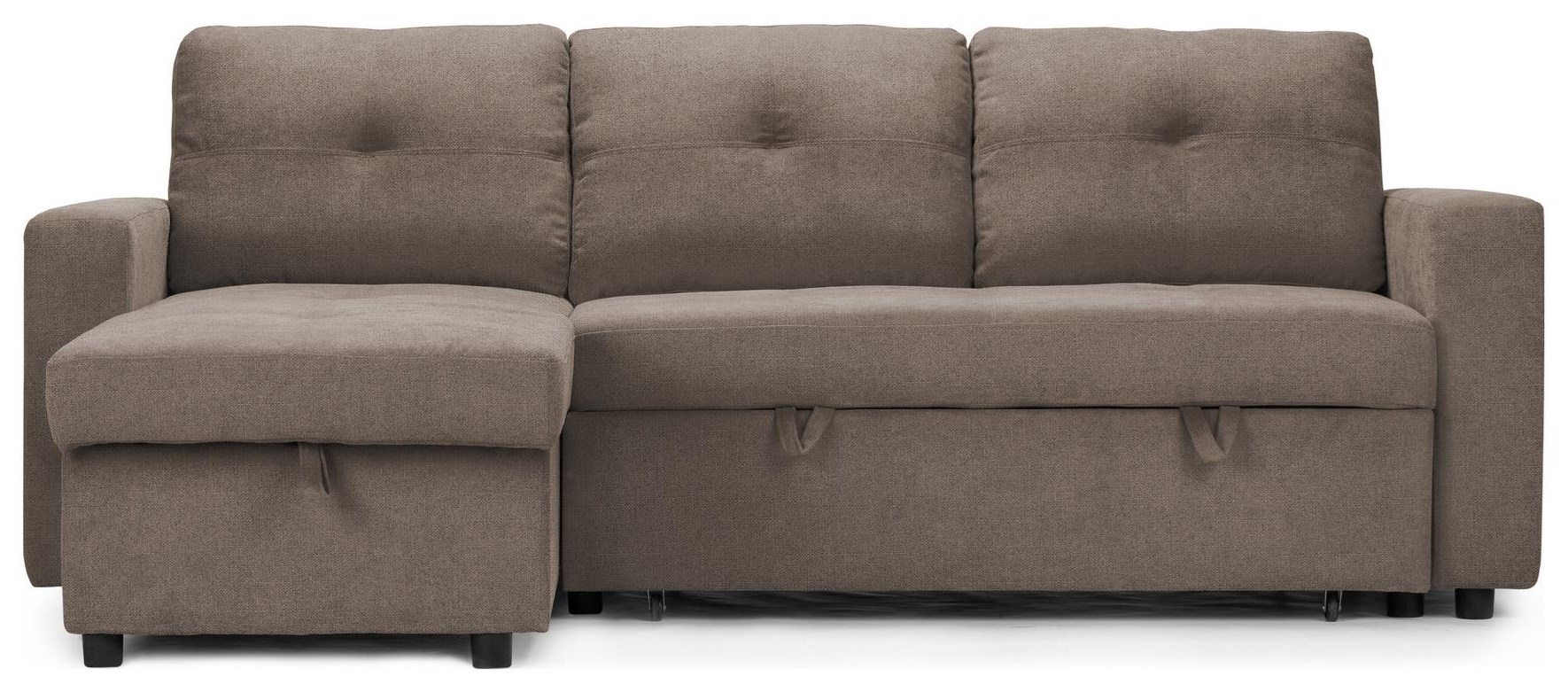 Abby Sleeper Sofa with Storage Chaise at Bennett's Furniture and Mattresses