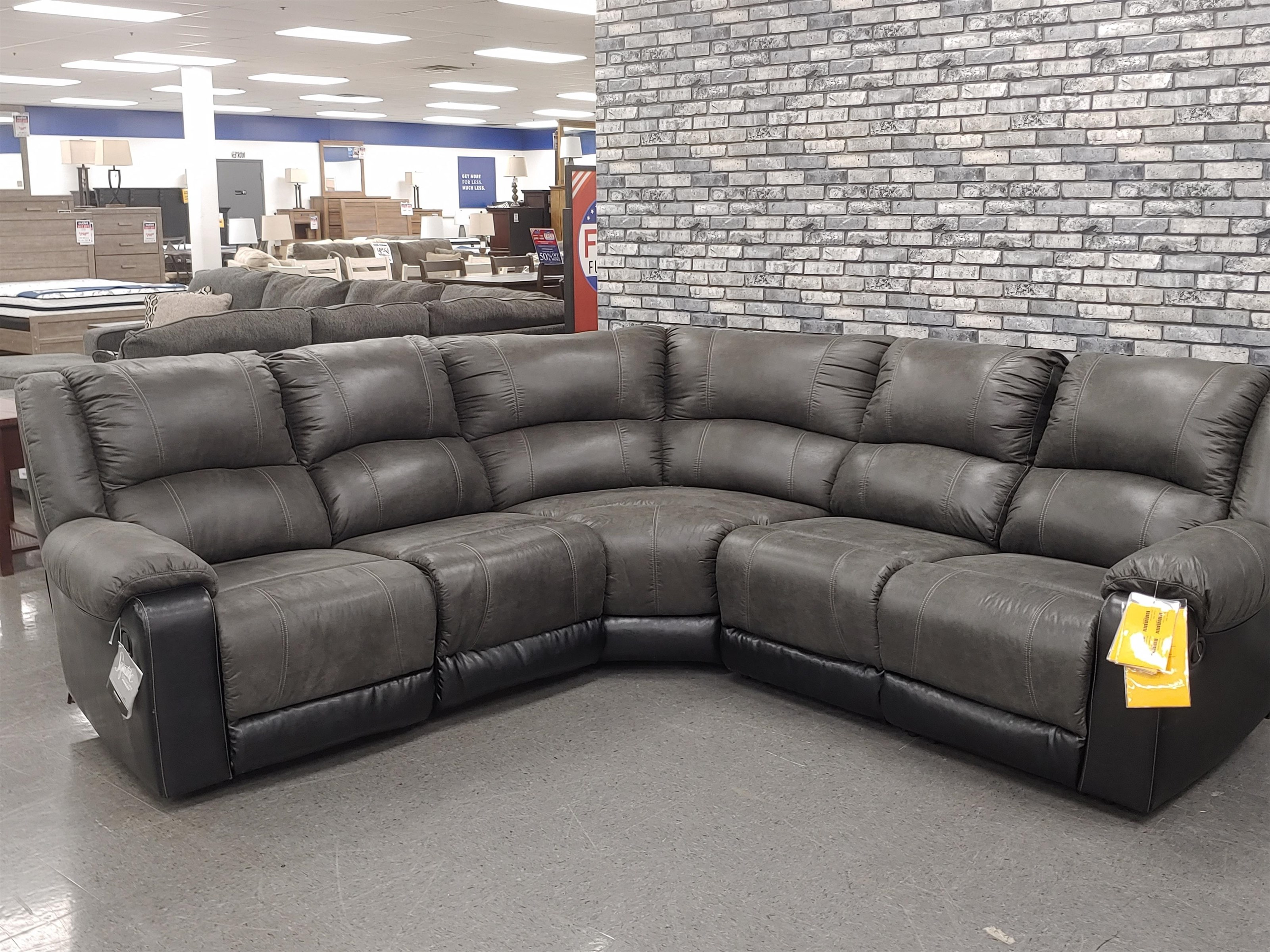 Sectional Last One! Reclining Sectional Sofa at Morris Home