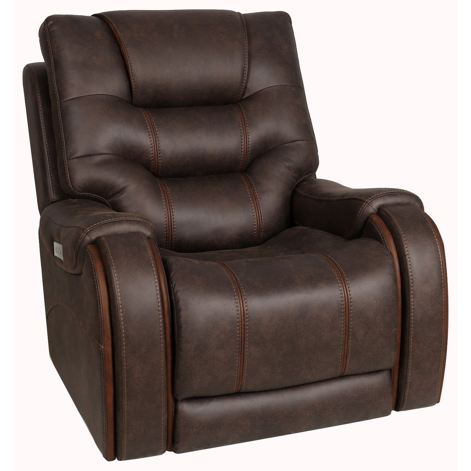 Warehouse M Power Recliner with Power Headrest by Moto Motion at Pilgrim Furniture City