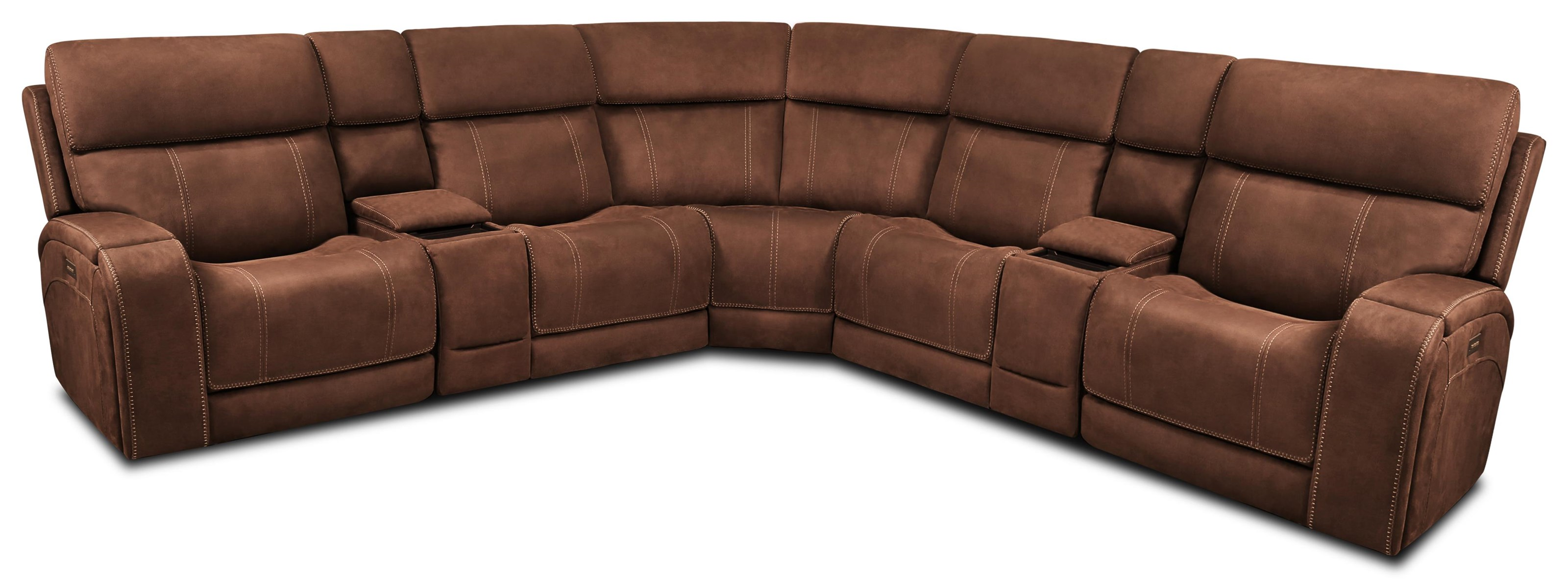 462 Sectional 6 Pc Triple Power Sectional by Moto Motion at Furniture Fair - North Carolina