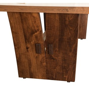 Customizable Solid Wood Trestle Dining Table