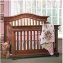 Muniré Furniture Majestic Curved-Top Lifetime Crib
