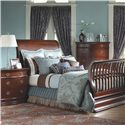 Muniré Furniture Park Avenue 2 Drawer Nightstand - Shown with Lifetime Convertible Crib Extended Into Full Bed and 5 Drawer Dresser