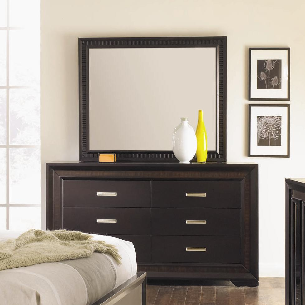 Najarian Brentwood Dresser and Mirror Combination - Item Number: BDBREDRM+BDBREMRM