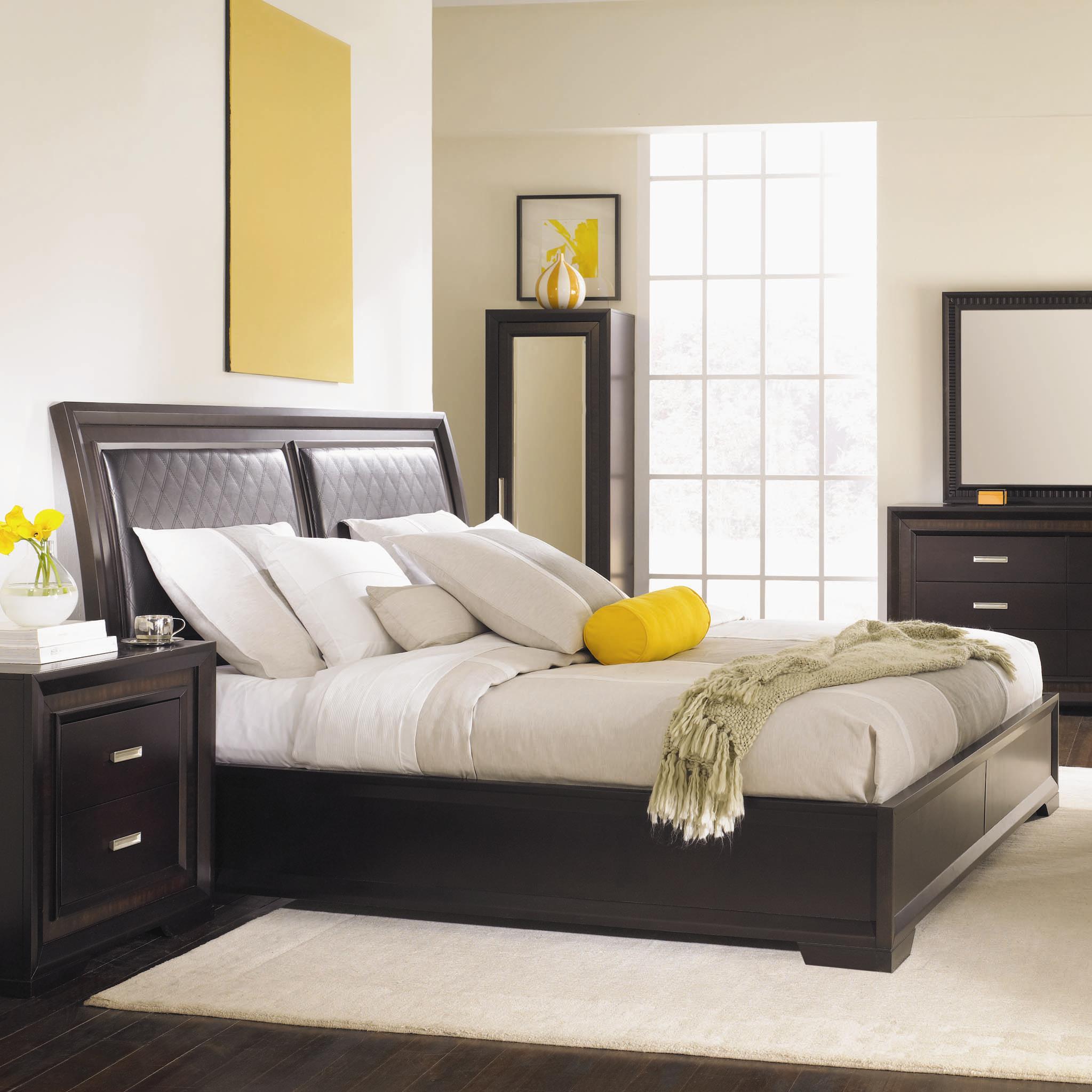 Najarian Brentwood Queen Bed - Item Number: BDBREHBQM+BDBREFBQM+BDBRERSKEQM