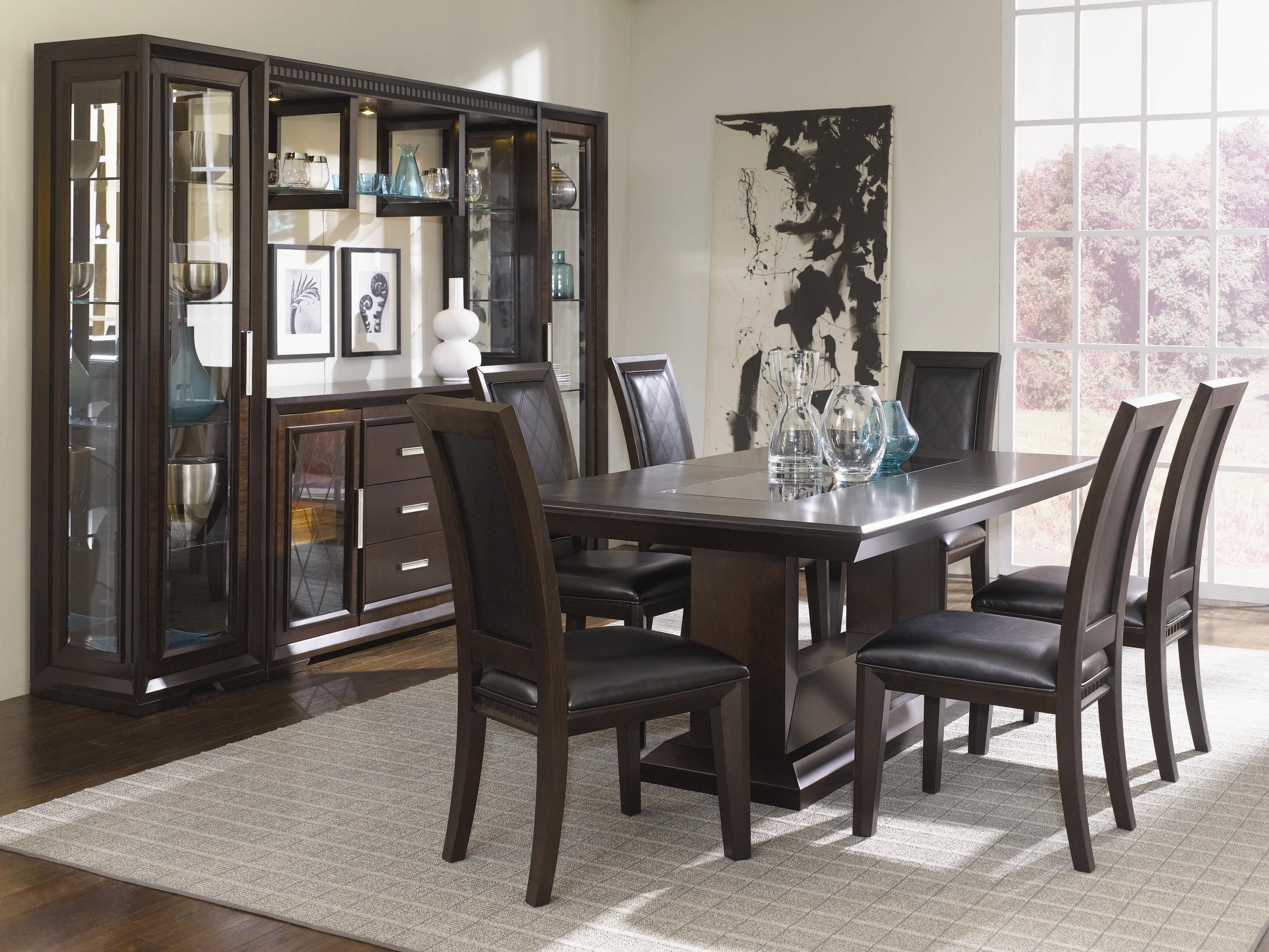 China Cabinet With Server, Light Bridge And Storage