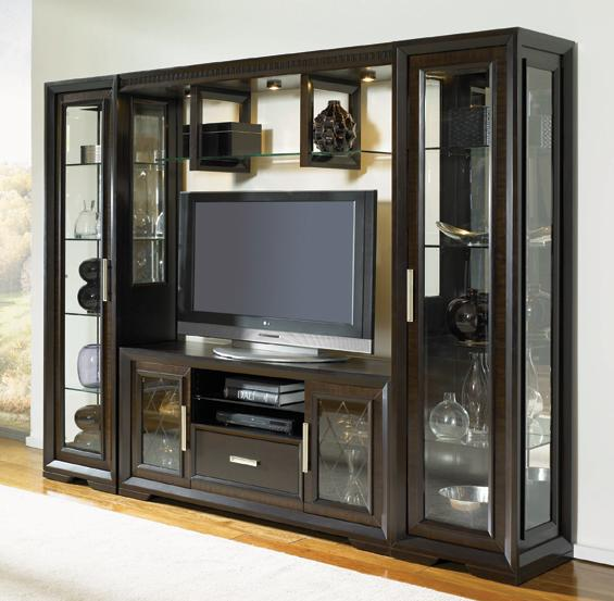 Najarian Brentwood China Cabinet With Server, Light Bridge And