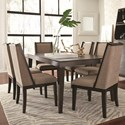 Najarian Cascade 7 Pc Dining Set - Item Number: Table+6xChair