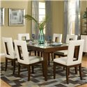 Najarian Enzo Dining PU Upholstered Side Chair with Open Backrest - Shown with Dining Table