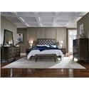 Najarian Essex Bedroom Collection King 6 Piece Bedroom Group - Item Number: 576343861