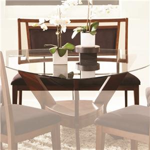 Najarian Gallia Dining Set with Triangular Glass Top Table ...