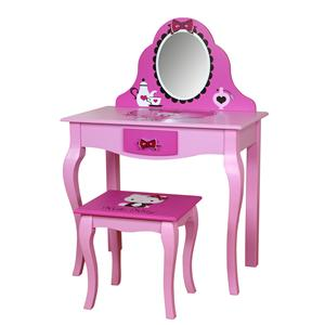 Hello Kitty Youth Bedroom Hello Kitty Youth Vanity with Mirror and Stool by Najarian