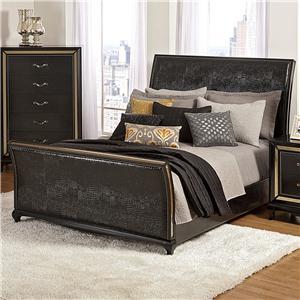 Najarian Ibiza Queen Upholstered Sleigh Bed