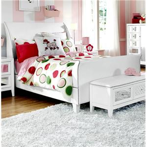 Impressions Youth Twin Sleigh Bed with Nail Head Trim by Najarian